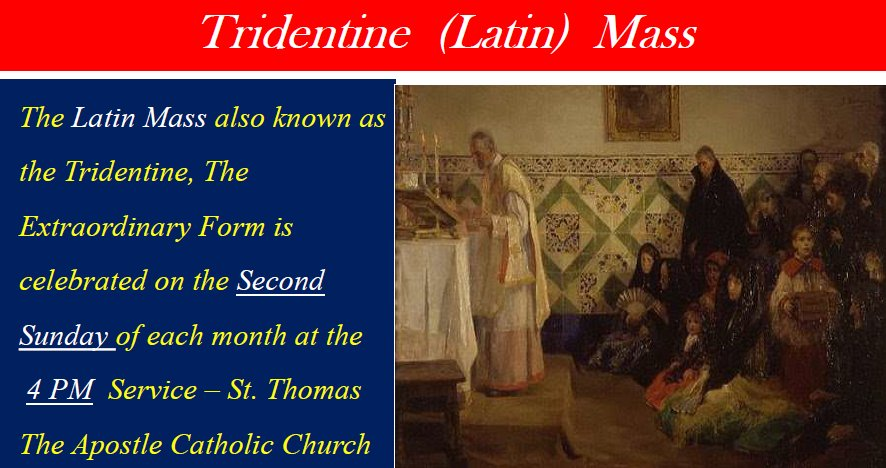 Latin Mass at St. Thomas