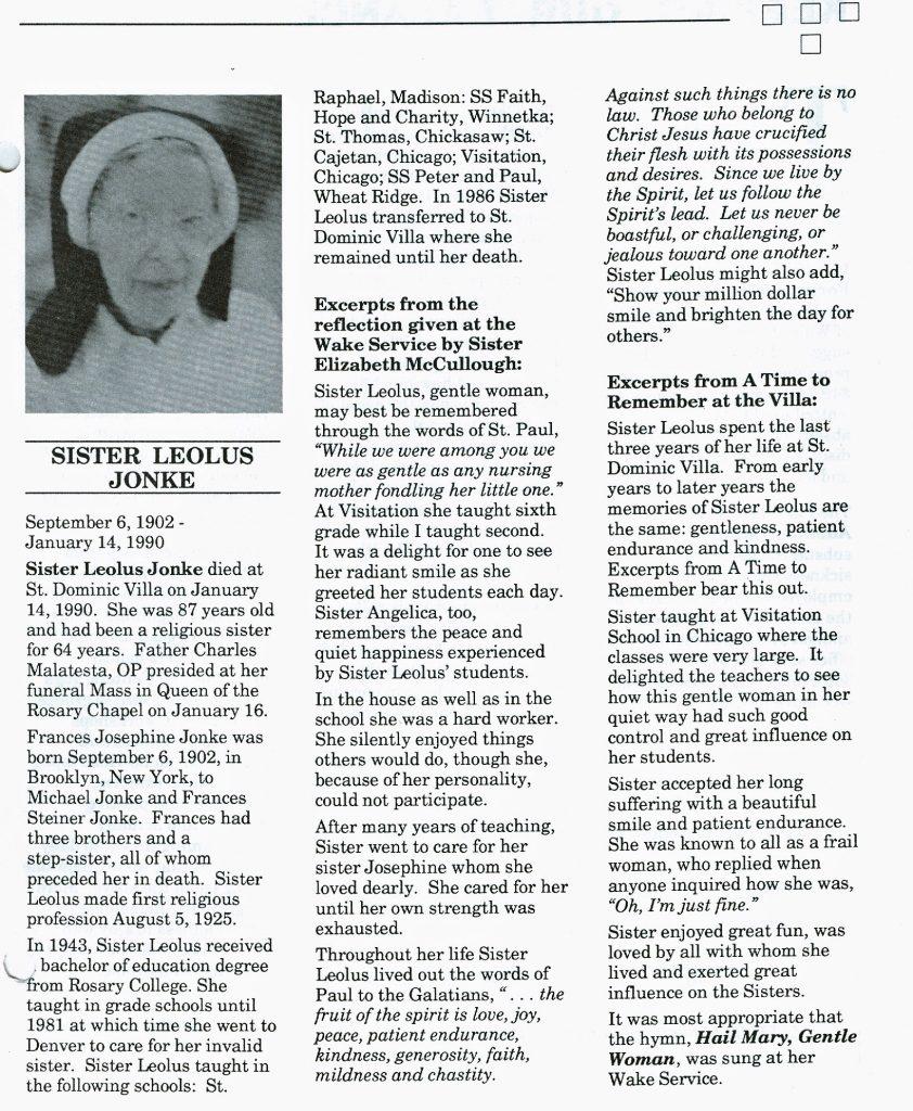 Sister Leolus Jonke