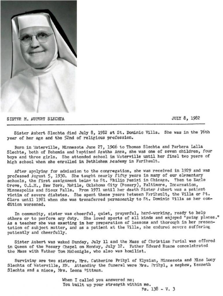 Sister M. Aupert Slechta